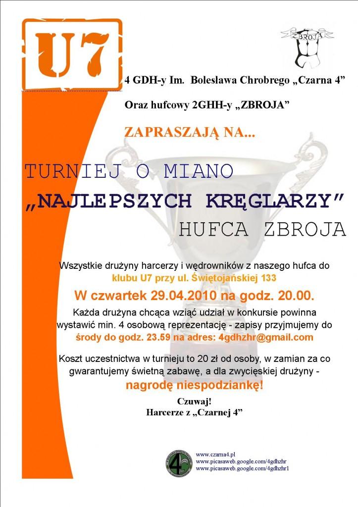 Turniej kręglowy 29.04.2010